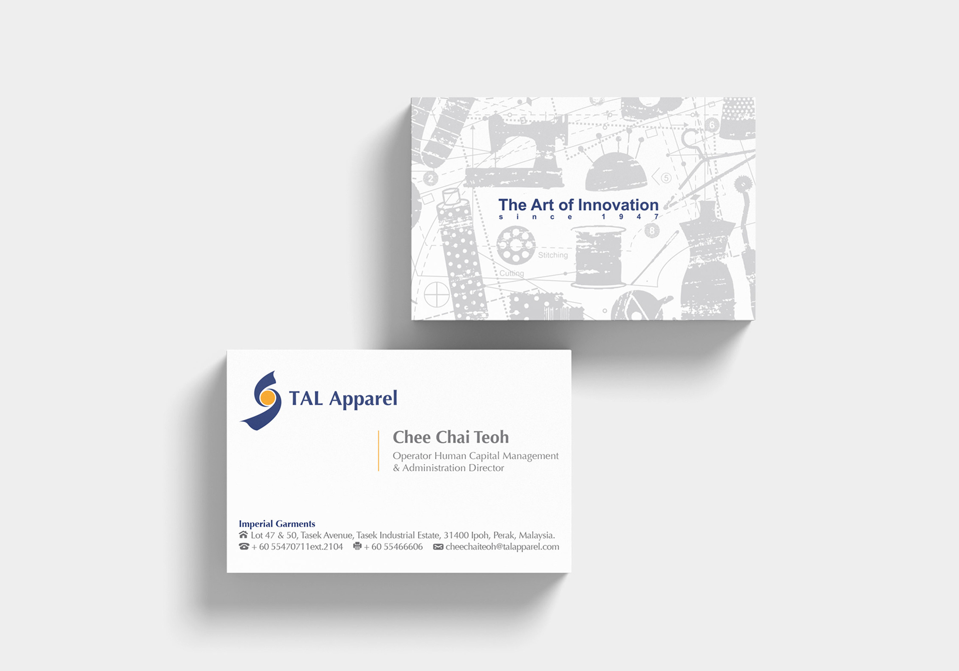 TAL APPAREL LIMITED BUSINESS CARD